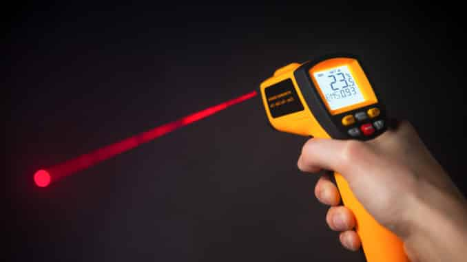 Infrarot-Thermometer mit Laser