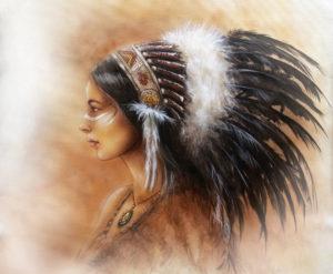 Indianerfrau als Airbrush